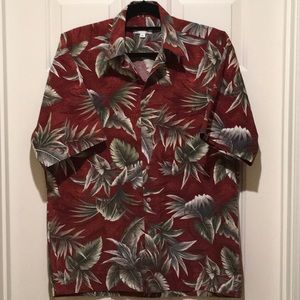Pierre Cardin Hawaiian 🌺 Style Camp Shirt SS Med